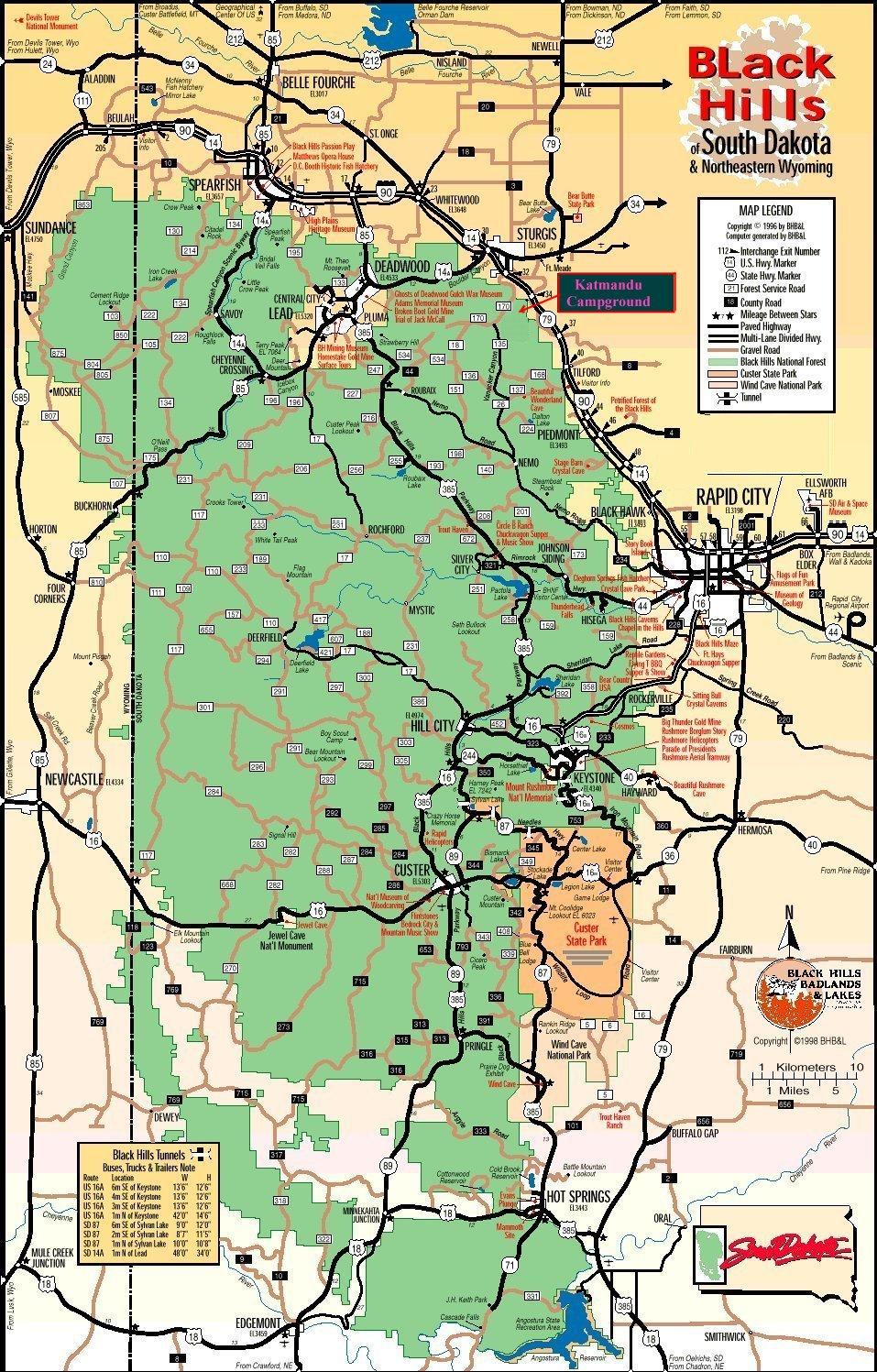 Katmandu Campground Map